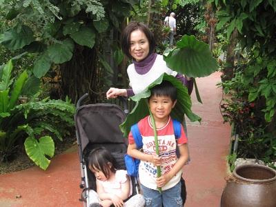 植物園にて2